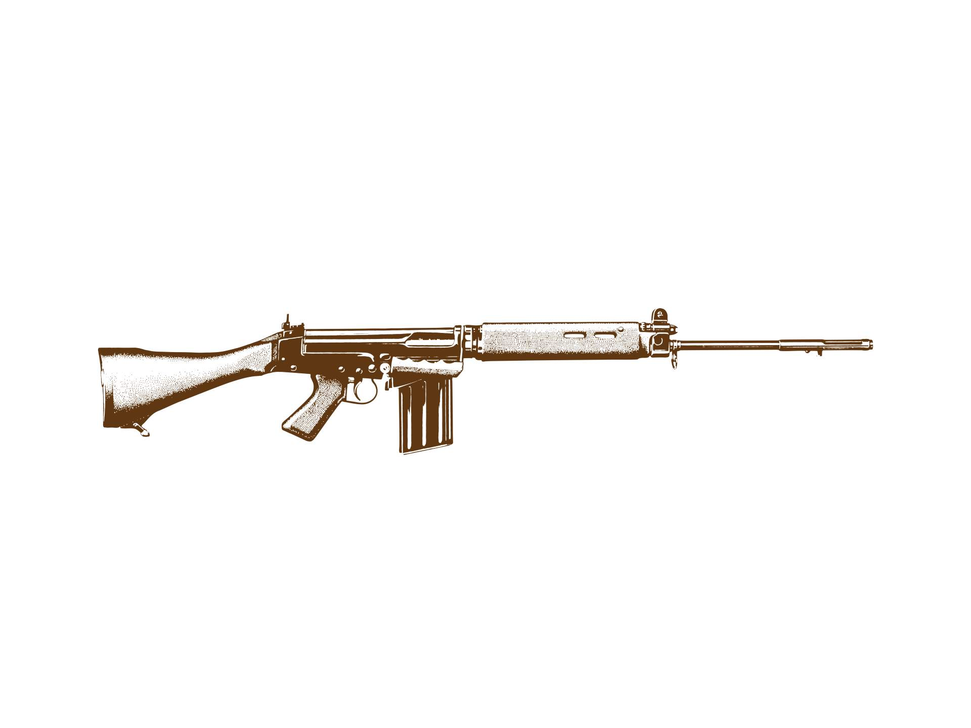 Stephen Symons, Fusil Automatique Léger or The Right Arm of the Free World, 2017, Digital print, 59.8 cm × 79.7 cm (23 ½ in. × 31 in.)